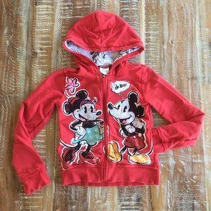 Disney vintage Mickey and Minnie zip-up hoodie